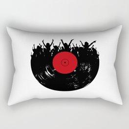 Vinyl record party Rectangular Pillow