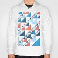 triangles Hoodies featuring TRIANGLES  by parallelish