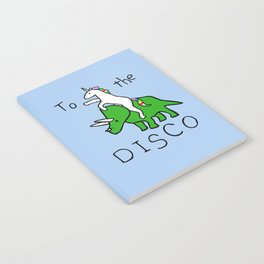 To The Disco (Unicorn Riding Triceratops) Notebook