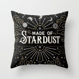 Made of Stardust – Black & Gold Palette Throw Pillow