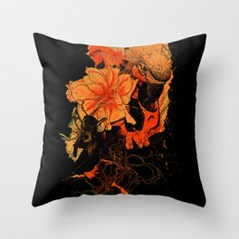 Pollination Dark Fire Throw Pillow