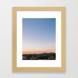 Harvest Moon and Desert Sky 2 Framed Art Print