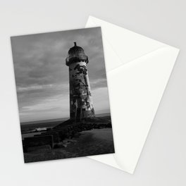 Talacre Lighthouse Black And White Stationery Cards