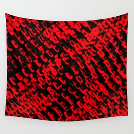 Red sublime metal pattern Wall Tapestry