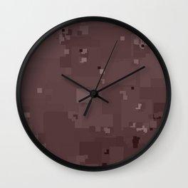 Peppercorn Square Pixel Color Accent Wall Clock