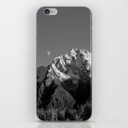 Moon Over Pioneer Peak B&W iPhone Skin