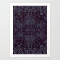 tatoo Art Prints featuring Tatoo weft by NumericEric