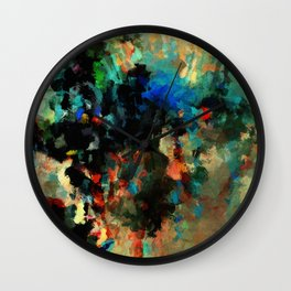 Colorful Landscape Abstract Painting Wall Clock