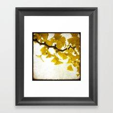 Golden Leaves Framed Art Print