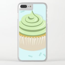 Lime Cupcake Clear iPhone Case