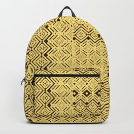 geometric layout in creamy yellow Backpack