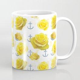 Anchors and Roses Coffee Mug