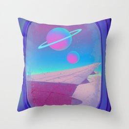 Space Journey Throw Pillow