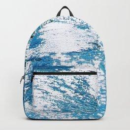 Hard Water Waves Abstract #watercolor #artprints #society6 Backpack