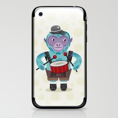 The Monkey Drummer iPhone & iPod Skin