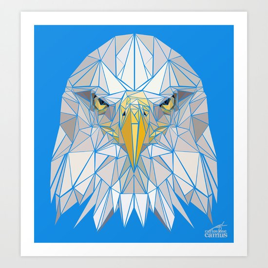Blue Eagle Art Print