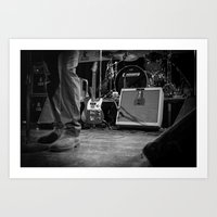 eddie vedder Art Prints featuring Eddie Vedder Guitar by Tim Schavitz