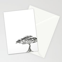 Whistling Thorn , Zen Bonsai African Tree Stationery Cards