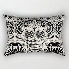 Sugar Skull Art B&W Rectangular Pillow
