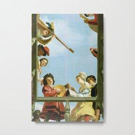 Gerard van Honthorst - Musical Group on a Balcony Metal Print