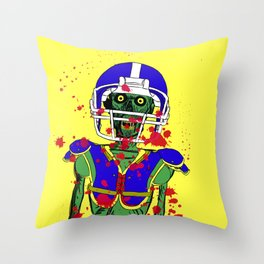 Zombie Football Player Throw Pillow