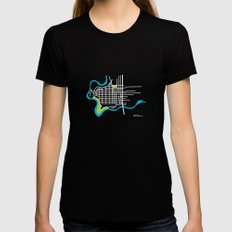 West Central, Spokane Black Womens Fitted Tee MEDIUM