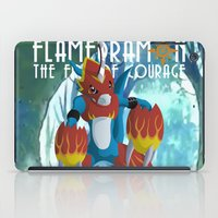 digimon iPad Cases featuring The Fire Of Courage by Zaukhes