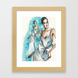 Bridal fashion sketch Framed Art Print