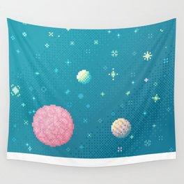 Brain Planet (8bit) Wall Tapestry