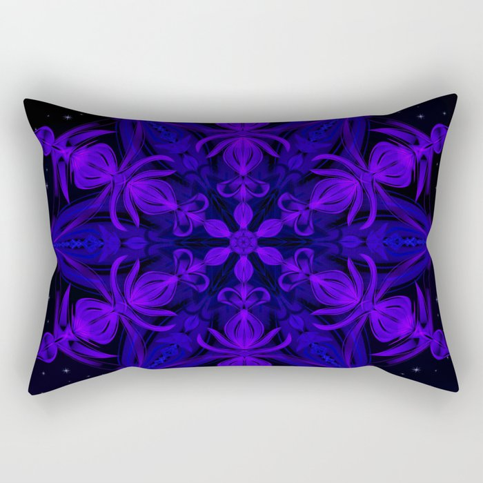 Crystal Blossom Adrift Rectangular Pillow