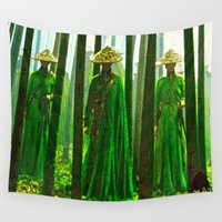 china Wall Tapestries featuring China  by Saundra Myles