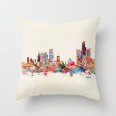 detroit michigan Throw Pillow