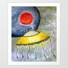 Jelly Moon Art Print