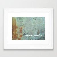ramones Framed Art Prints featuring Syrah was a punkrocker by TheWineBerlin