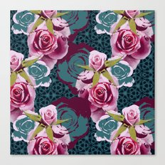 Modern Baroque Rose Canvas Print