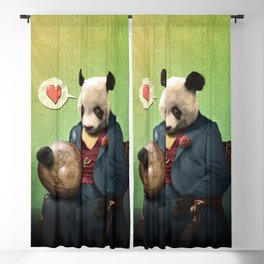 Wise Panda: Love Makes the World Go Around! Blackout Curtain