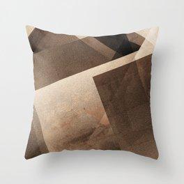 Sepia Shapes - Digital Geometric Texture Throw Pillow