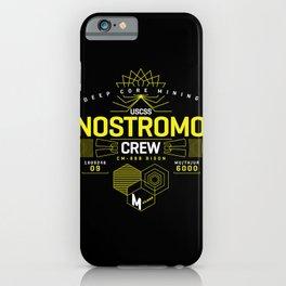 Deep Mining Crew / Nostromo / Alien / Science Fiction / Horror / Typography iPhone Case