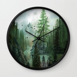 Mountain Morning 2 Wall Clock