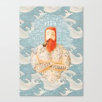 type Canvas Prints featuring Sailor by Seaside Spirit