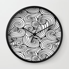 Ocean swirls and curls. Wall Clock