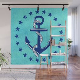 Nautical Anchor with Stars Wall Mural