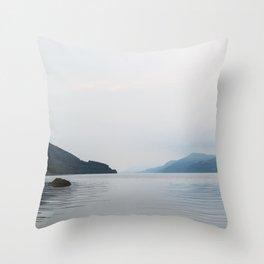 Tranquil Loch Ness Throw Pillow
