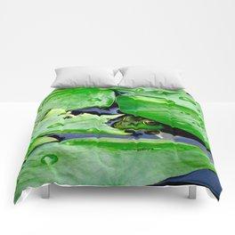 Peek  A Boo frog Comforters