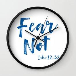 Inspirational Fear Not Bible Verse Quote Christian Wall Clock