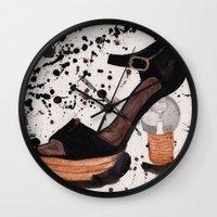 shoe Wall Clocks featuring Shoe by Melania B