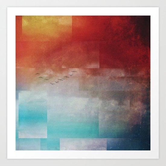 Fractions A86 Art Print