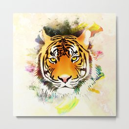Tiger design Metal Print