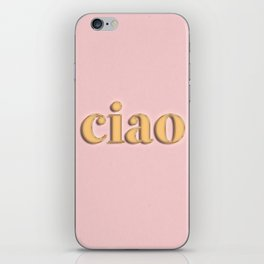 ciao typography iPhone Skin