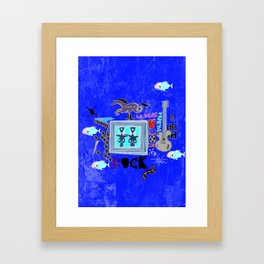 Rock and Fun Framed Art Print